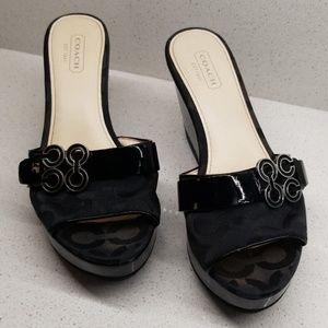COACH GERI wedge sandals (size 6.5B)